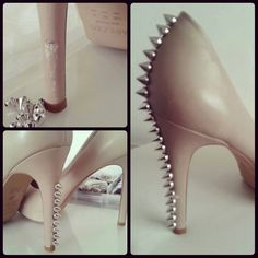 studded high heels - this is lovely, but there is no pair of mine left to bling up :D