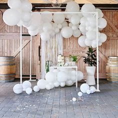 All white delighting. Our DIY Balloon Garland Kits are joy makers.