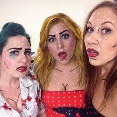 . Comic Book Makeup, Comic Books, Halloween Looks, Halloween Face Makeup, Superhero, Comics, Birthday, Baby, Birthdays