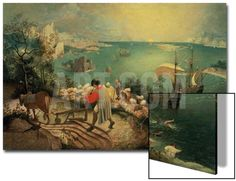 Landscape with the Fall of Icarus, about 1558 Art on Acrylic by Pieter Bruegel the Elder at Art.co.uk