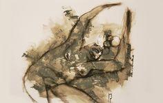 """fenomeno"" - Michele Petrelli - acrylic and oil on wood ballasted 42x29x6cm - 2011"