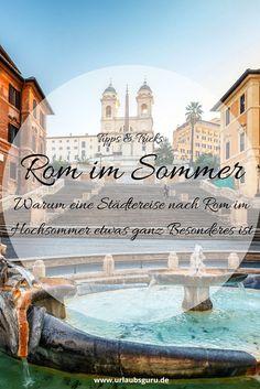 Alle erzählen immer, dass man nicht im Hochsommer nach Rom reisen sollte, aber warum eigentlich? Ich gebe euch gute Gründe für eine Städtereise nach Rom im Sommer. Ihr werdet die Sehenswürdigkeiten der Stadt mit ganz anderen Augen betrachten können.