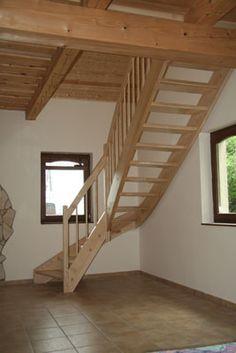 Negyedfordulós falépcső - Galler lépcső