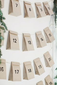 DIY Christmas advent calander from Lillies, lattes and lace
