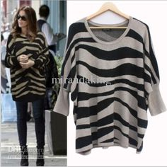 Cheap Baggy Sweaters - Best Women S Classic Fit Warm Zebra Print Loose Online with $26.43/Piece | DHgate