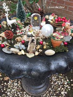 bird bath to fairy garden