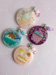 Resin Sweet Treat Kawaii Ice Cream Pendants, Resin Cupcake Pendant, Kawaii Sweet Jewelry, Kawaii Resin Charms on Etsy, $8.00