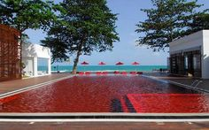 red pool,  The island of Koh Samui's infamous Chaweng Beach is littered with hotels, but none of them comes close to the Library in terms of that all-out beach bliss-out factor