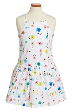 Milly Minis Floral Print Sleeveless Dress (Big Girls) available at #Nordstrom