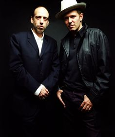 Mick Jones and Paul Simonon   by Roger Sargent