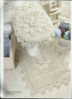 Jogo de Banheiro em Crochet / jahsaude