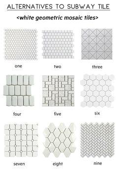 alternatives to subway tile, white mosaic tile