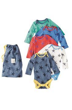 Mini Boden Bodysuit (5-Pack) (Baby Boys) | Nordstrom