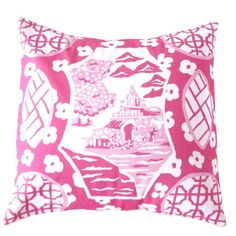 Dana Gibson Pink Canton Pillow - Waiting On Martha