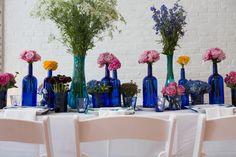 Blue and White Wedding Ideas - Cobalt Blue, love! | The NotWedding Philadelphia