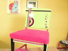 """This is the funky chair that my friend Jen created for the HGTV show """"That's Clever"""""""