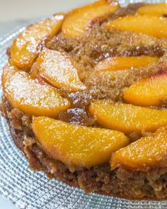 Upside-Down Peach Cake with Hot Rum Sauce is one of the most amazing cakes I've ever eaten. There's nothing like warm rum sauce and baked peaches! Peach Rum, Peach Cake, Cake Recipes, Dessert Recipes, Desserts, Dessert Ideas, Cake Ideas, Peach Upside Down Cake, Brown Sugar Frosting