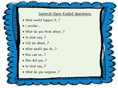 $0.00 Importance of Open Ended Questions Freebie Poster of General Questions.