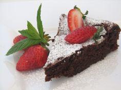 עוגת שוקולד פאדג' עם ברנדי  