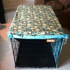 Dog Crate Cover! Not those colors.  But, something more manly.