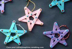 Étoiles en bâtons de glaces