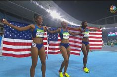 Brianna Rollins, Nia Ali, and Kristi Castlin. 1-2-3 American sweep!