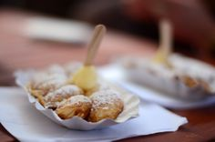 For our international followers this is a typical Dutch dish called 'poffertjes' and it's the best of the best. Actually I'm craving for it this very moment.