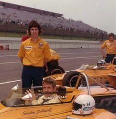 Gordon Johncock and Peter Revson - Gulf McLaren M16B Offenhauser - McLaren Cars Ltd. - California 500 1972 - 1972 USAC National Championship, round 6