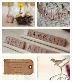 Wedding theme - scrabble