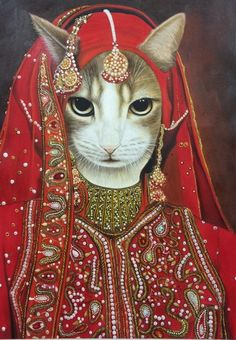 The Egyptian Queen - my painting of a Redditor's Cat