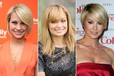 Hairstyles for Pear Face Shapes: To balance the features of a pear face shape, create volume around the forehead with a partial bang while reducing or removing any fullness around the jawline.