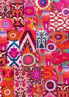Giftwrap in bright exotic prints, x Textiles, Textile Prints, Textile Design, Textures Patterns, Fabric Patterns, Print Patterns, Illustrations, Illustration Art, Ikat Pattern