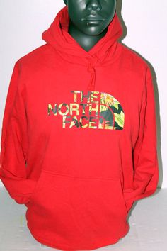 THE NORTH FACE PULLOVER MAHALO HOODIE RED HAWAIIN PRINT CU77682 #THENORTHFACE #Hoodie