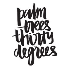 Palm Trees. Typographic print by Kristina Humberstone. Available at mala.com.au © 2014