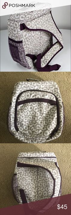 """New Thirty One bag ❤️ This  is a new Thirty One bag in """"Say it Taupe"""". This would make great diaper bag or camera bag. So many compartments and areas to put things away. Has one arm to put over shoulder. Taupe and purple-wine color. Clean and new! Fast Shipping! thirty-one Bags"""