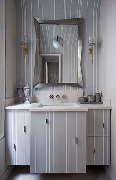 Prints to change the space: concealing bathroom cabinets. Удачные решения по оформлению ванных