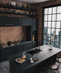 interior, 37 Top Kitchen Trends Design Ideas and Images for 2019 Part - Industrial Kitchen Design, Industrial House, Modern Kitchen Design, Modern Interior Design, Interior Design Living Room, Industrial Chic, Vintage Industrial, Industrial Bedroom, Modern Decor