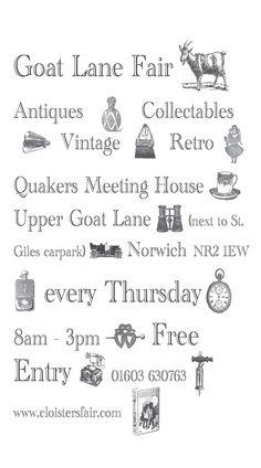 Goat Lane Fair - Every Thursday