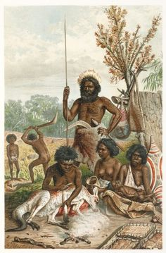 Australian aborigines butchering a kangaroo 1885 1888 Stock Photo, Royalty Free Image: 8372989 - Alamy Aboriginal Culture, Aboriginal People, Aboriginal Art, Australian Aboriginal History, Australian Artists, Australian Aboriginals, Lascaux, Colonial Art, Prehistoric World