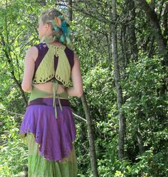 Fairy Wing Upcycled Vest Eco Fashion Festival by AncientGrove, $60.00