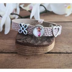 Lederarmband rosa metallic 10 mm breit, Lederarmband mit Slider, größenverstellbares Armband Slider, Creative Ideas, Cuff Bracelets, Vintage, Diy, Jewelry, Fashion, Pink Leather, Diy Creative Ideas