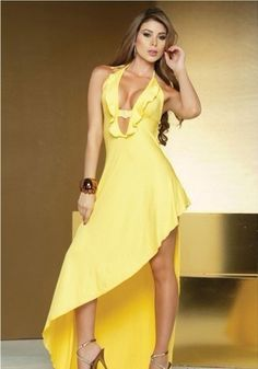 RUFFLED EVENING GOWN WL6690YELLOW http://www.81lingerie.com/ruffled-evening-gown-wl6690yellow-p-22520.html