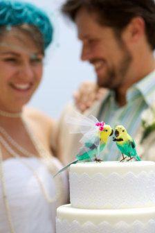 parrot Wedding Cake Topper
