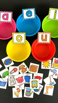 Middle Sound Sorting Cups learning Your students w&; Middle Sound Sorting Cups learning Your students w&; Susanne Kneip susannecuador Lerntheke Middle Sound Sorting Cups learning Your students will […] for short Preschool Learning Activities, Alphabet Activities, Toddler Activities, Preschool Activities, Short Vowel Activities, Educational Activities, Letter Identification Activities, Short Vowel Games, Letter Sound Activities
