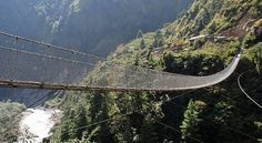 Hang 'em High In Nepal, the Kusha-Balewa bridge holds the joint record of being both the longest and the highest suspension bridge in this mountainous country, at 117 metres high and 334 metres long.