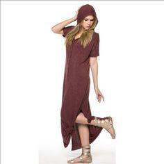 Hooded maxi dress Never worn maxi dress. Dresses Maxi
