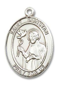 St. Dunstan Patron Saint Medal Sterling Silver (Medium)