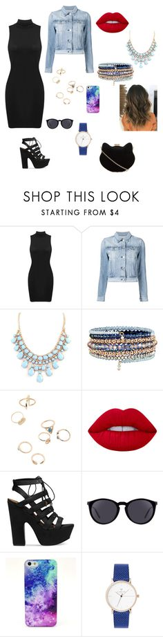 """""""Party Girl"""" by adna-00 ❤ liked on Polyvore featuring 3x1, Accessorize, Lime Crime, Steve Madden, Yves Saint Laurent and New Look"""