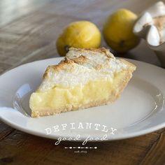 Low Carb Lemon Meringue Pie - crust (almond flour, salt, butter, egg), water, gelatin, Gentle Sweet (might sub another sweetener), lemon zest & juice, butter, eggs, cream of tartar