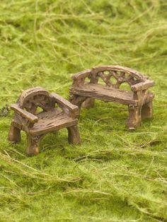 Fairy Garden - Woodland Furniture Set | Gardener's Supply